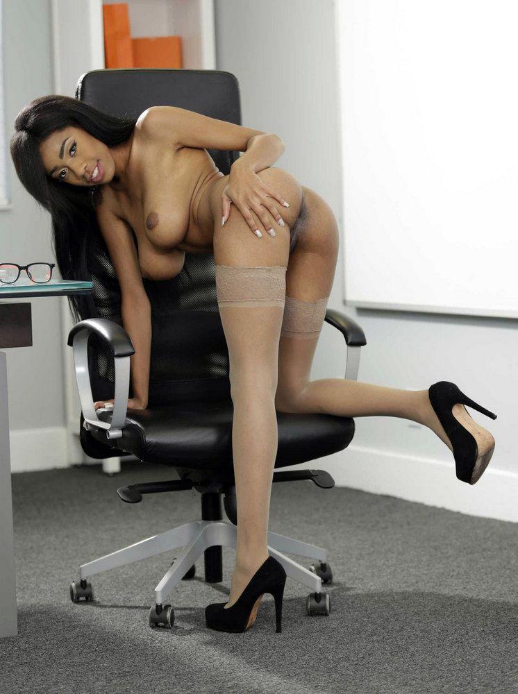 Brittney Milky bare office. My Bare..